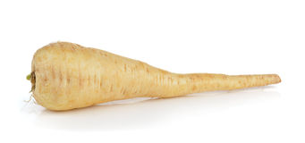 Fresh parsnip roots on  white background Royalty Free Stock Images