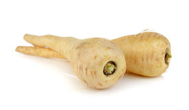 Fresh parsnip roots on white background Stock Photo