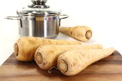 Fresh parsnips Royalty Free Stock Image