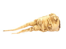 Fresh parsnips isolated on white Royalty Free Stock Photos