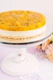 Fresh passion fruit cheesecake dessert Stock Image
