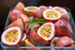 Fresh passion fruit for health Stock Photos