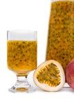 Fresh passion fruit juice Stock Image