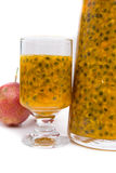 Fresh passion fruit juice Stock Photos