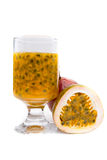 Fresh passion fruit juice Stock Photo