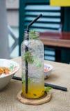 Fresh passion fruit juice Stock Photo