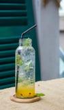 Fresh passion fruit juice Stock Photography
