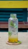 Fresh passion fruit juice Stock Images