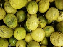 Fresh passion fruit on the market.  royalty free stock photos