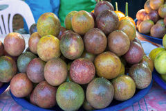 Fresh passion fruit in the market. The fruit is sour Stock Photography