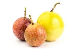 Fresh passion fruit. On white background Royalty Free Stock Photos