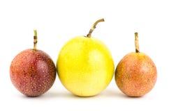 Fresh passion fruit. On white background Stock Photography