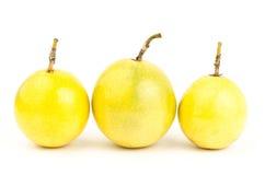 Fresh passion fruit. On white background Stock Photo