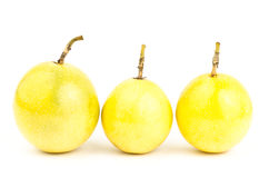Fresh passion fruit. On white background Royalty Free Stock Images