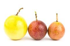 Fresh passion fruit. On white background Royalty Free Stock Image