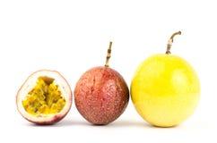 Fresh passion fruit. On white background Stock Images