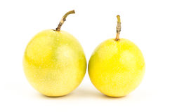 Fresh passion fruit. On white background Stock Photos