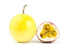 Fresh passion fruit. On white background Stock Image
