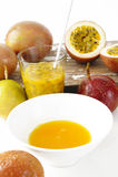 Fresh passionfruit Royalty Free Stock Photography