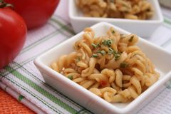 Fresh pasta. Some fresh pasta in a bowl Royalty Free Stock Image