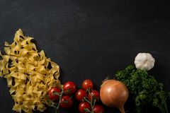 Fresh Pasta Background Royalty Free Stock Image