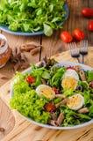 Fresh pasta egg salad Stock Images