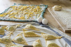 Fresh pasta home-made Royalty Free Stock Images