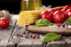 Fresh pasta ingredients Royalty Free Stock Photos