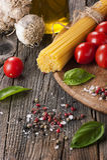 Fresh pasta ingredients Stock Images