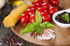 Fresh pasta ingredients Stock Photos