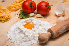 Fresh pasta ingredients Royalty Free Stock Photo
