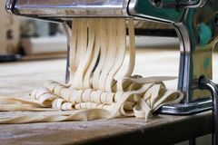 Fresh pasta manual production Stock Photography
