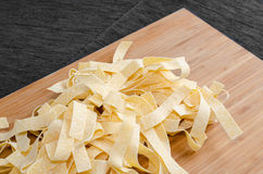 Fresh pasta pappardelle Royalty Free Stock Photos