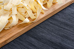 Fresh pasta pappardelle Royalty Free Stock Images