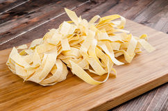 Fresh pasta pappardelle Stock Image