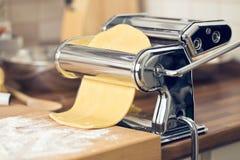 Fresh pasta and pasta machine Stock Image