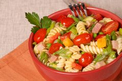 Fresh pasta salad Stock Photography