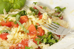 Fresh pasta salad royalty free stock image