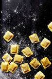 Fresh Pasta Sheets Stuffed with Filling Royalty Free Stock Image