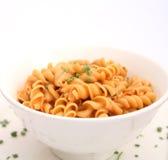 Fresh pasta. Some fresh pasta in a bowl Stock Image