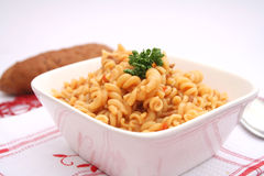 Fresh pasta. Some fresh pasta in a bowl Stock Images