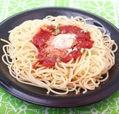 Fresh pasta. Some fresh pasta with a sauce of tomatoes and cheese Royalty Free Stock Photos