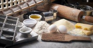 Fresh pasta tools Stock Image