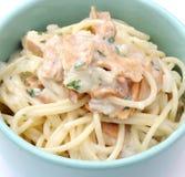 Fresh pasta with tuna fish Stock Photo