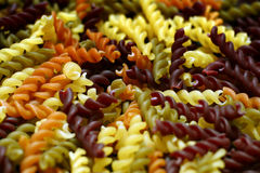 Fresh Pasta Twirls Multicolor Stock Photos