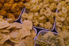 Fresh Pasta in Vancouvers Grandville Island Market. Some of the tastiest pastries and snacks in Vancouver, Canada: Grandville island Market Royalty Free Stock Image