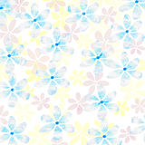 Fresh pastel floral background. Clear fresh  multi layered floral pattern on white background with texture Stock Image