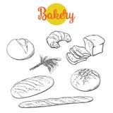 Fresh pastries, crisp bread isolated Stock Photos