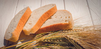 Fresh Pastries. Fragrant Freshly Baked Bread And Rye Ears Stock Image