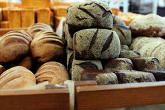 Fresh pastry at baker shop Royalty Free Stock Photos